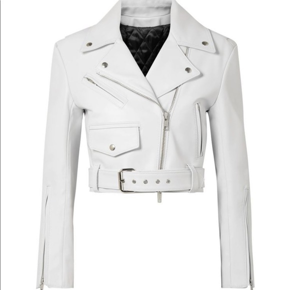Calvin Klein Jackets & Blazers - Cropped leather biker jacket Calvin Klein